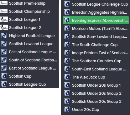 FM15 Scottish League System