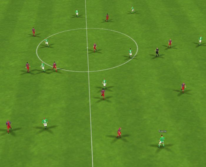 Football Manager 2015 Bayern Munich tactic 3-1-4-2 Defensive Shape