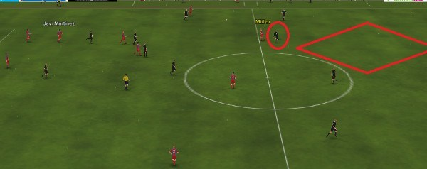 fm15 bayern munich tactic exploiting space