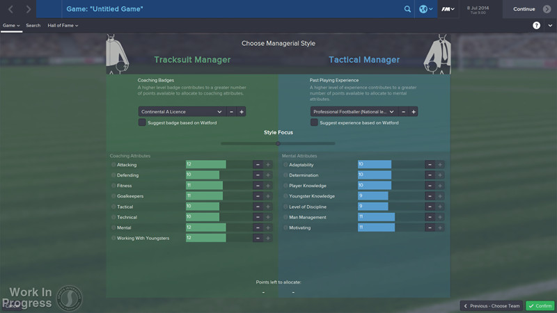 Football Manager 2015 tracksuit manager