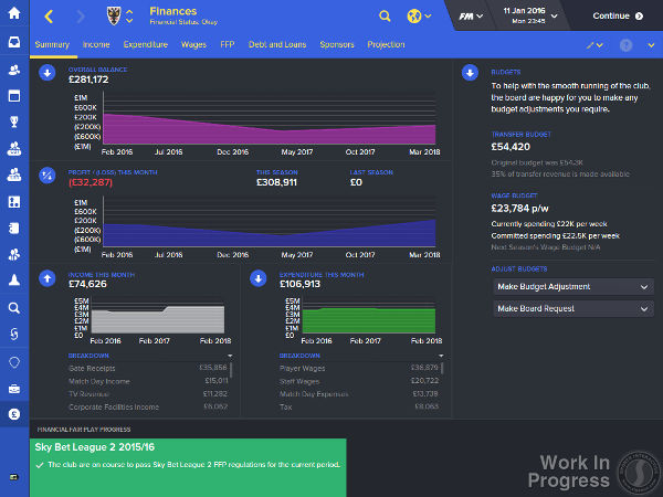 fm16 finance overview screen