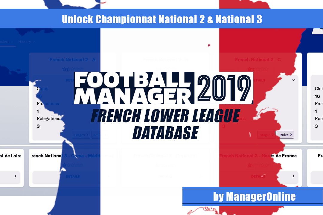 Complete French League System in Football Manager 2019