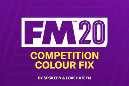 Football Manager 2020 competition color fix