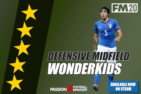 FM20 Defensive midfield wonderkids