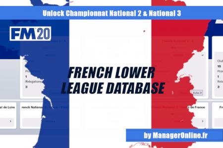 fm20 French lower league level 5 database