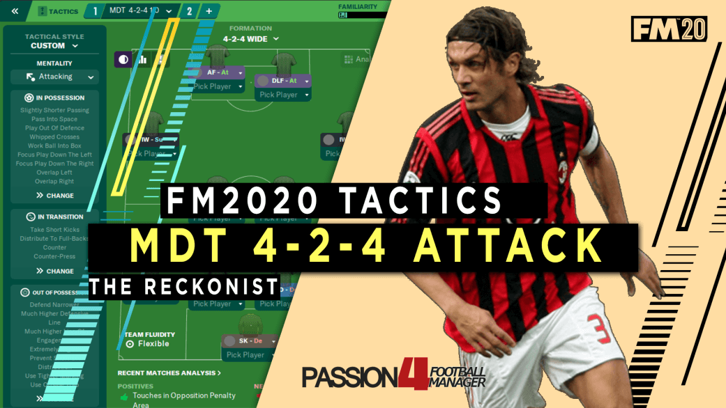 FM20 Attacking Tactic MDT 4-2-4