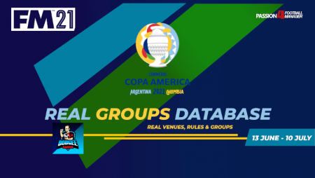 FM21 Copa America 2021 Real groups database by DodgeeGamer