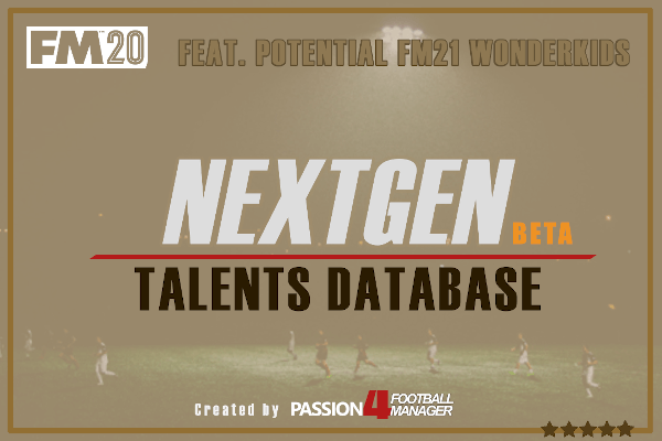 FM20 Next Generation Talents Database