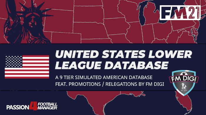 FM21 United States lower league database