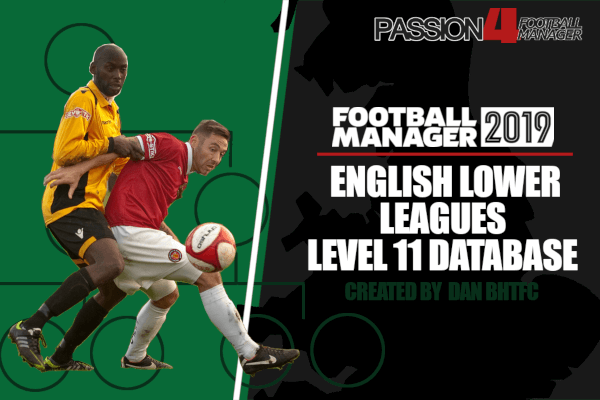 Football Manager 2019 english lower leagues database