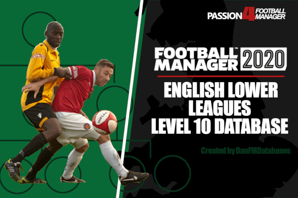 Football Manager 2020 English lower leagues database