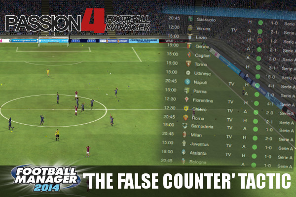 Football Manager 2014 Tactic False Counter