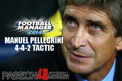 Manuel Pellegrini 4-4-2 Football Manager 2014 Tactic
