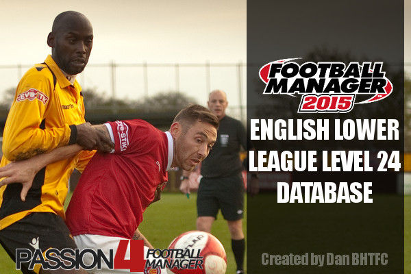 Football Manager 2015 English lower leagues database level 24