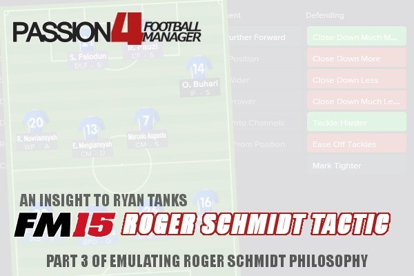 An Insight To Football Manager 2015 Roger Schmidt Tactic by Ryan Tank