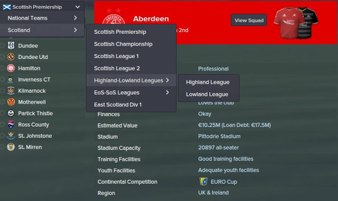 Football Manager 2015 Scottish Highland Lowland Division