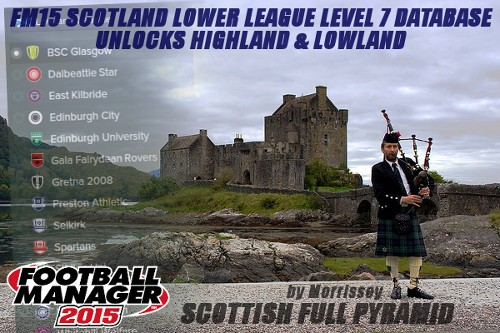 Football Manager 2015 Scotland League Database