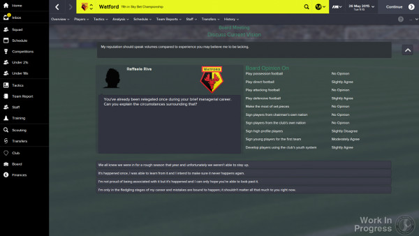Football Manager 2015 Job Interview
