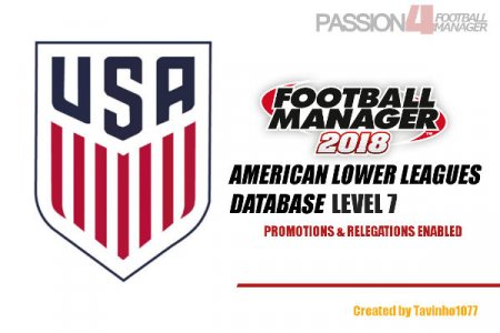 Football Manager 2018 American lower league database