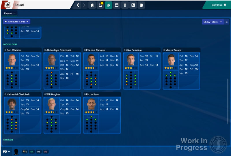 Football Manager 2018 features fantasy draft attribute cards