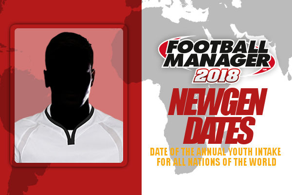 Football Manager 2018 newgen dates - the annual youth intake in FM18