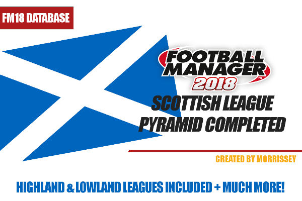 Football Manager 2018 Scottish lower league database