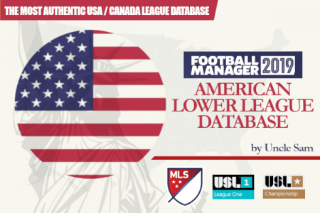 Football Manager 2019 American lower league database