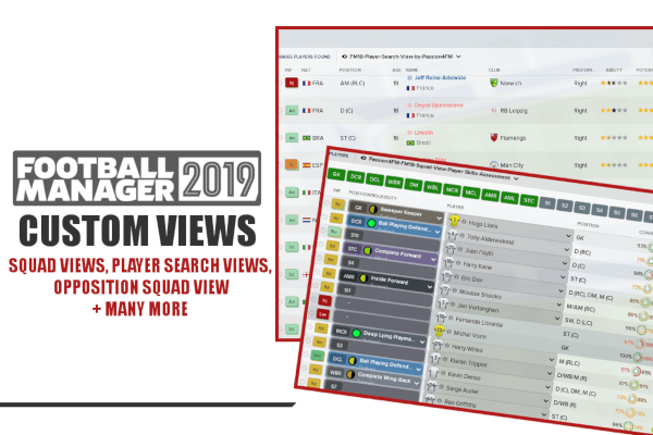 Football Manager 2019 custom views