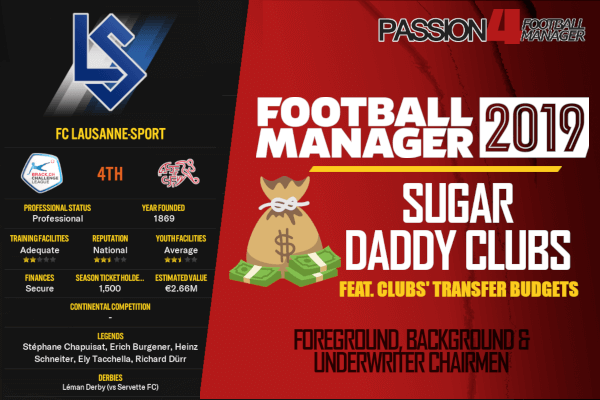 Football Manager 2019 sugar daddy clubs