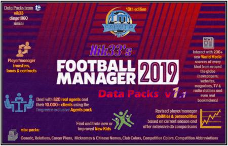 FM19 Nik33s Transfer and Data Update Packs
