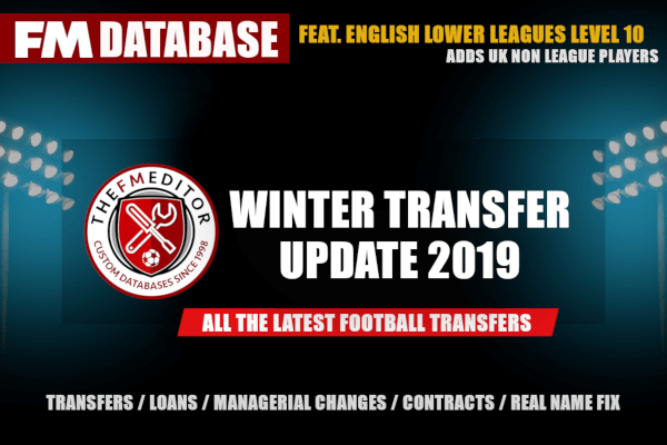 Football Manager 2019 winter transfer update by FMEditor