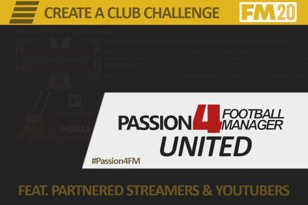 FM20 club challenge Passion4FM United