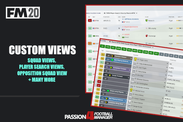 The View Sponsors List 2020.Football Manager 2020 Custom Views Megapack Passion4fm