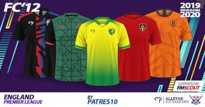 FM20 English Premier league kits 2019-20