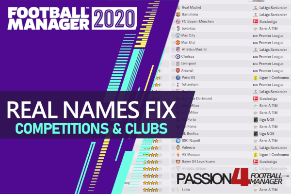 Football Manager 2020 Real Names fix