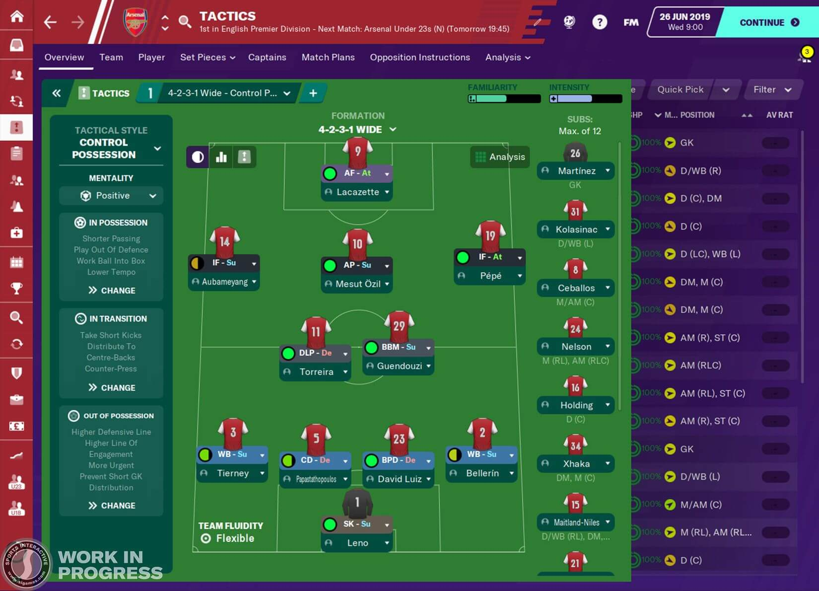 Football Manager 2020 screenshots tactics
