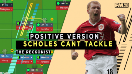 Football Manager 2020 tactic scholes cant tackle