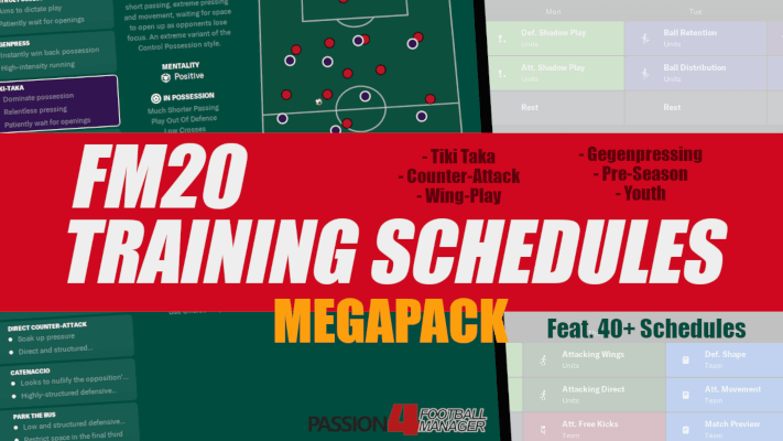 Football Manager 2020 training schedules megapack