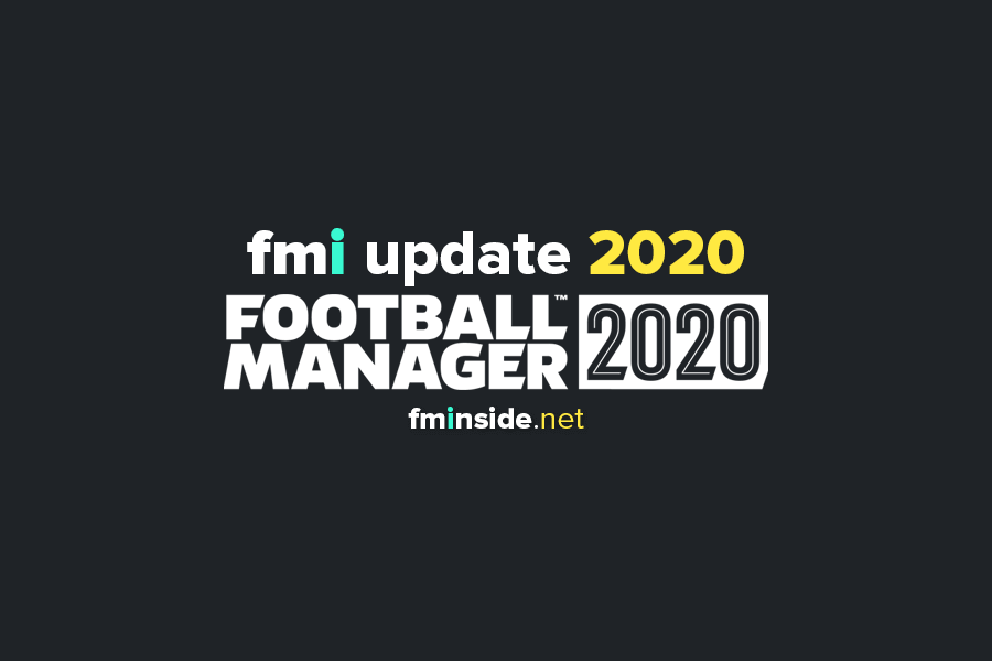 Football Manager 2020 transfer data update fmi
