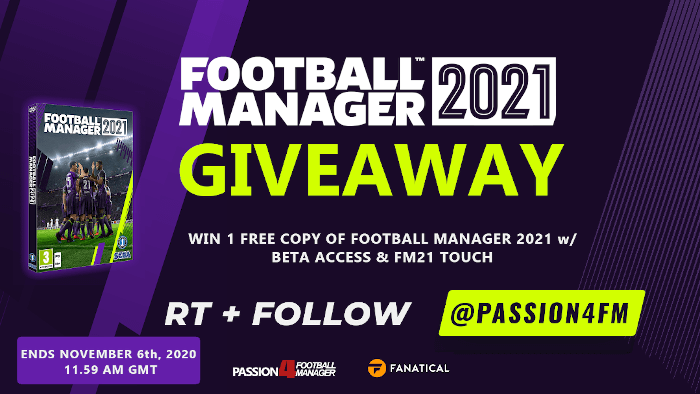 Football Manager 2021 Giveaway