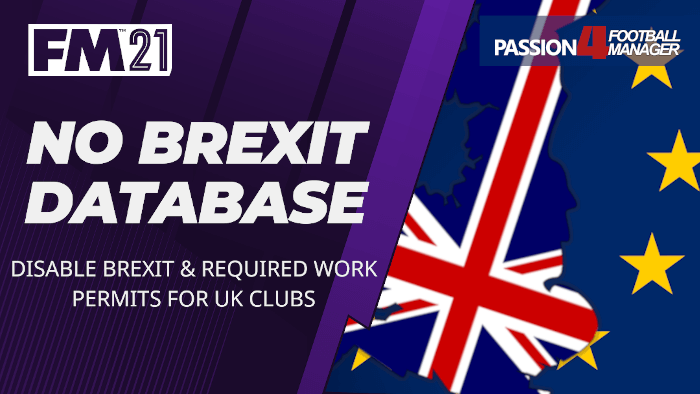 Football Manager 2021 No Brexit Database