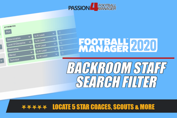FM20 Backroom Staff Search Filter