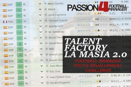 football manager youth development challenge talent factory la masia