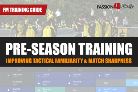 Guide to Pre-Season Training in Football Manager