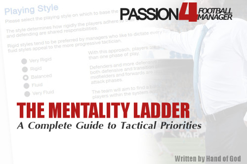 Football Manager Mentality Ladder