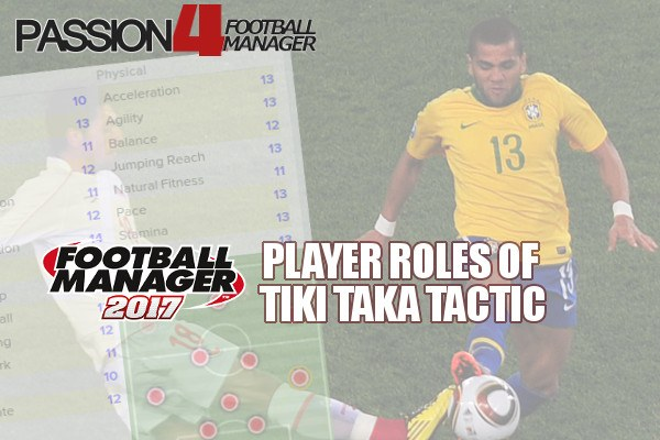 Football Manager player roles of tiki taka tactic explained