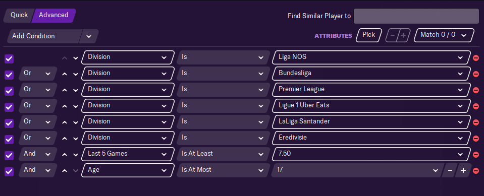 Best performers newgens search filter
