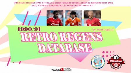 Football Manager 1990-91 Retro regen database
