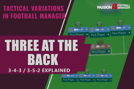 three at the back systems explained in Football Manager