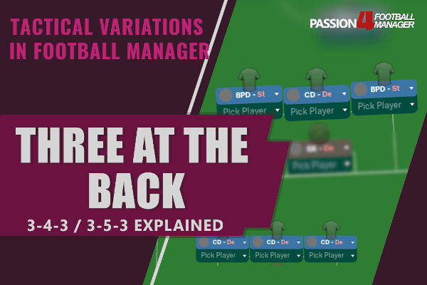 Football Manager Guide to three at the back systems - tactical variations explained